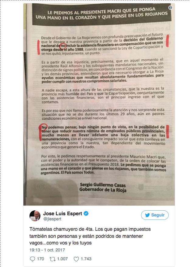 Jorge Yoma explotó contra Espert lo trató de cachivache y de hablar boludeces(1)