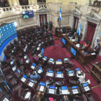 Se aprobó la ley que posterga un mes las PASO y las elecciones generales, en una accidentada sesión del Senado